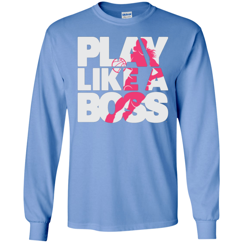 Custom Women's Basketball Play Like A Boss™ Long Sleeve T-Shirt