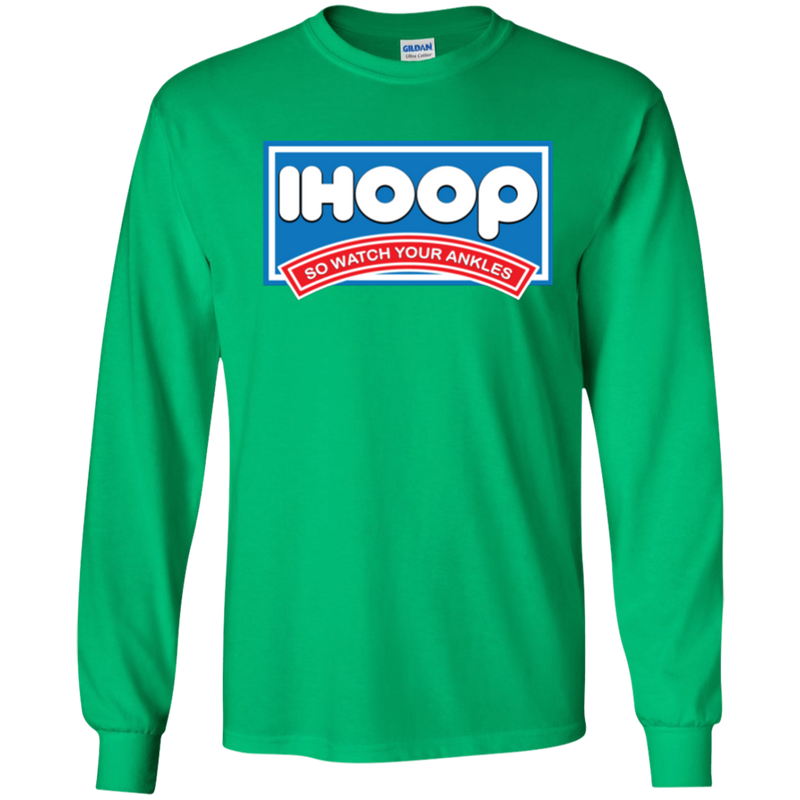 IHOOP Basketball Parody Youth LS T-Shirt