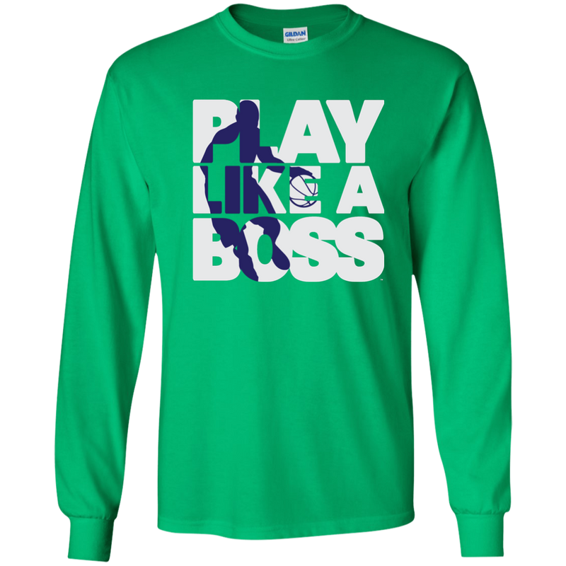 Youth Boys Basketball Play Like A Boss™ LS T-Shirt