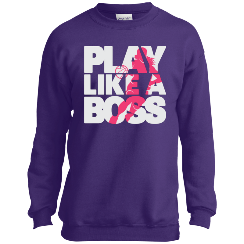 Play Like a Boss™ Youth Girls Basketball Sweatshirt