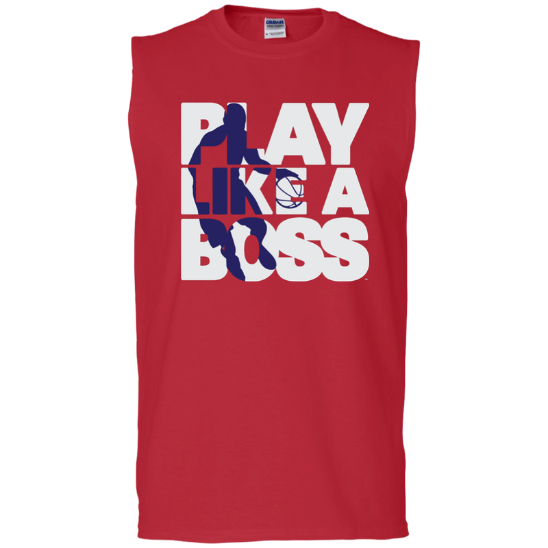 Men's Basketball Play Like A Boss™ Sleeveless T-Shirt