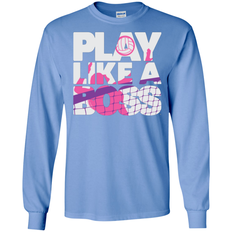 Play Like A Boss™ Women's Volleyball LS Tee