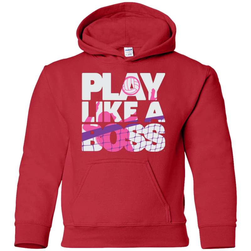 Play Like a Boss™ Youth Girls Volleyball Pullover Hoodie