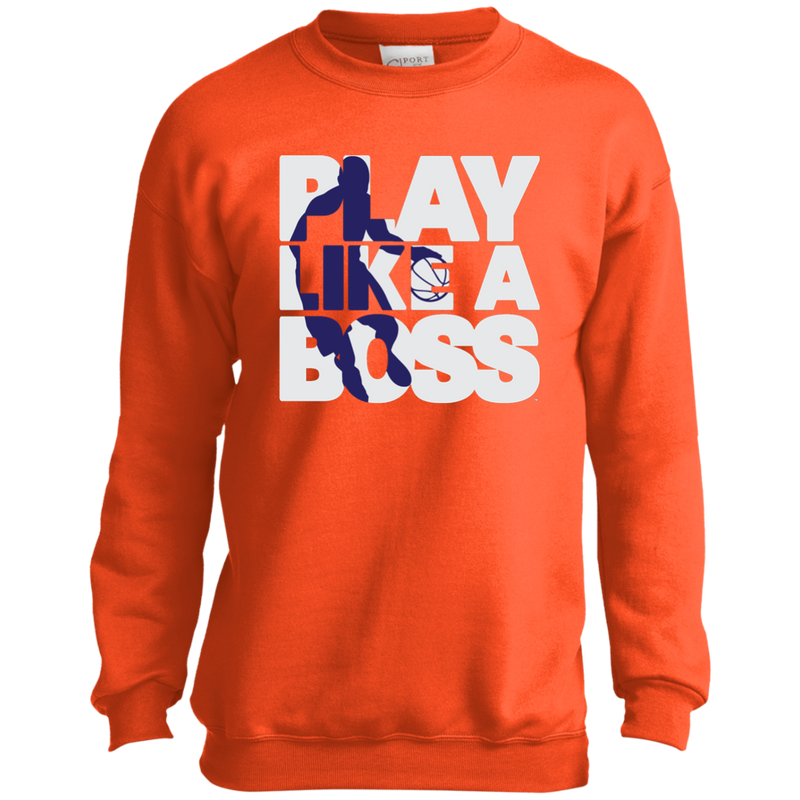 Youth Boys Basketball Play Like A Boss™ Crewneck Sweatshirt