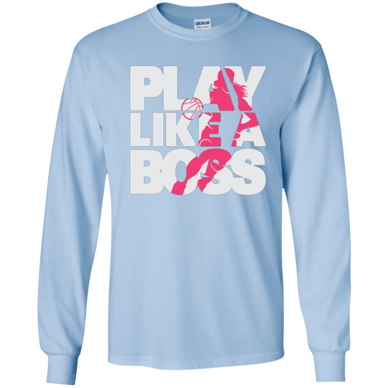 Play Like a Boss™ Youth Girls Basketball LS T-Shirt