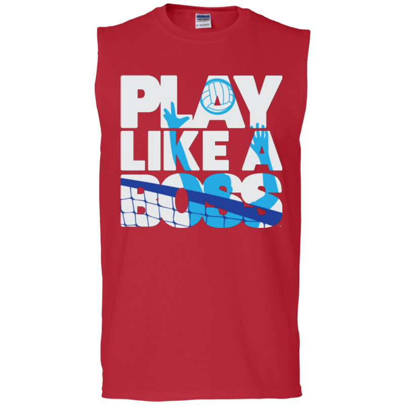 Play Like A Boss™ Men's Volleyball Sleeveless T-Shirt