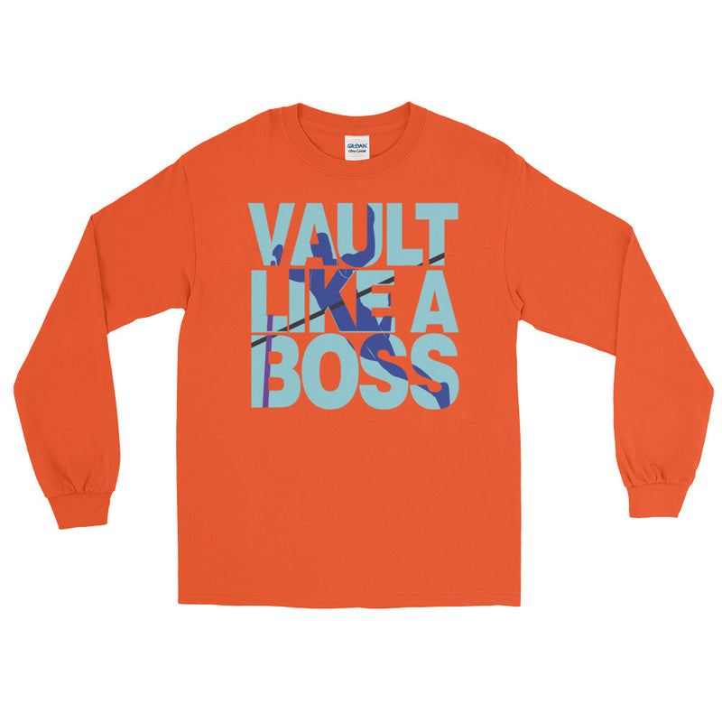 Pole Vault Like A Boss Men's Long Sleeve T-Shirt