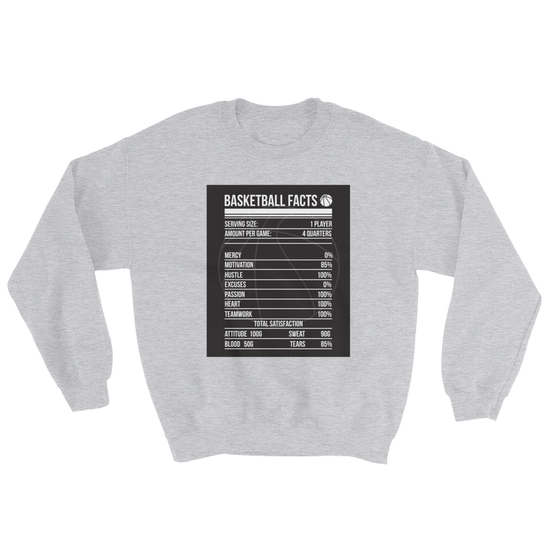 Basketball Facts Sweatshirt