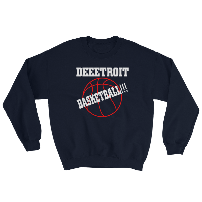 Detroit Basketball Sweatshirt
