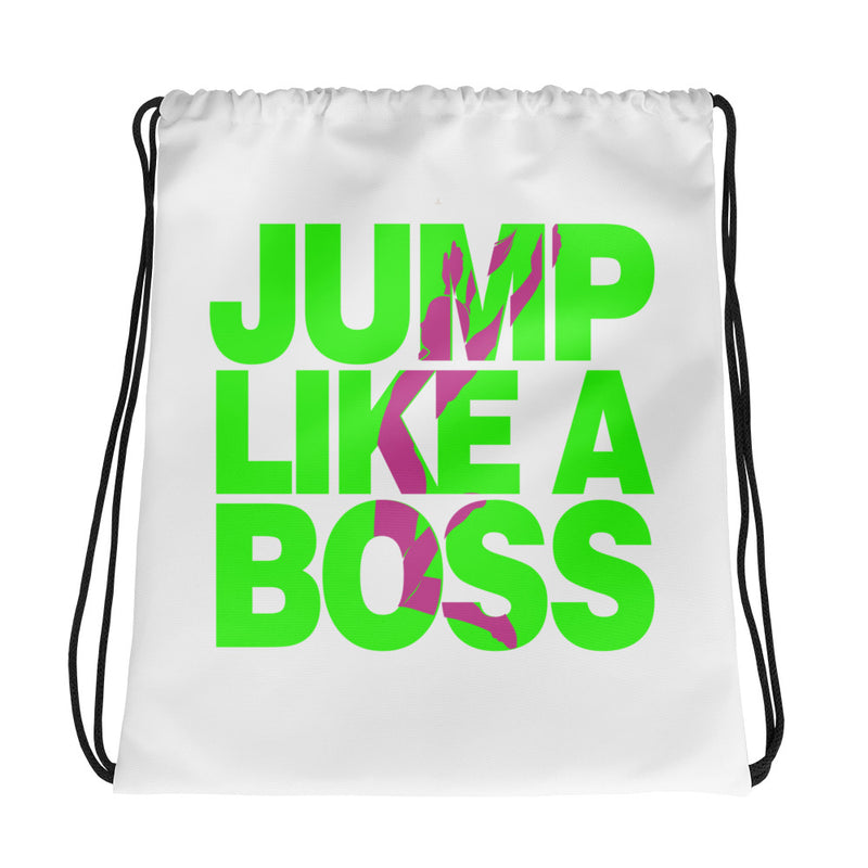 Long Jump Like A Boss Women's/Girls Drawstring Backpack