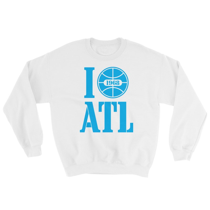 I Love Atlanta Basketball Sweatshirt