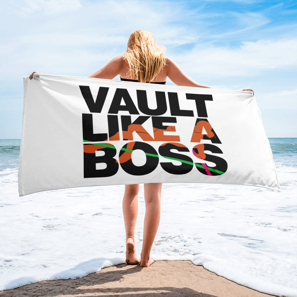 Pole Vault Like A Boss Women s Beach Towel – Upstart Tees cfe07262e