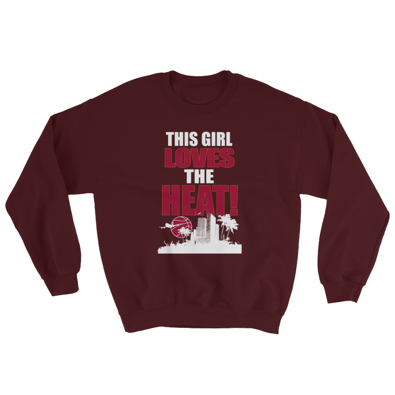 This Girl Loves The Heat Basketball Sweatshirt