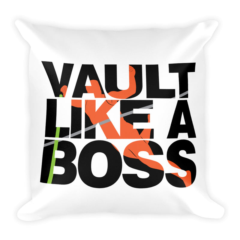 Pole Vault Like A Boss Two-Sided Graphic Design Pillow