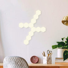 Load image into Gallery viewer, Warm White Hexagon Modular Lamp Touch Sensitive Light Modular Hexagon Panel (Pack 5)