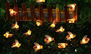Honey Bee Style Diwali- Garden- Decoration fairy Light big Size Bee LED Light string – 16 Lamps ( warm White)