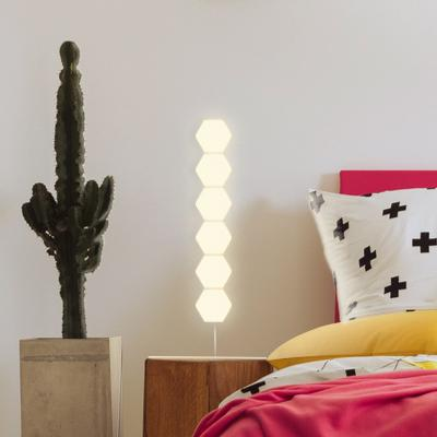 Warm White Hexagon Modular Lamp Touch Sensitive Light Modular Hexagon Panel (Pack 5) - Coral Tree