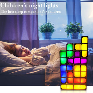 Tetris Stackable Puzzles Toy Light Lamp (Multi-Color) - Coral Tree