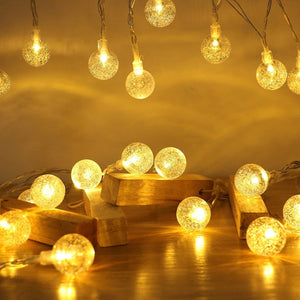 CRYSTAL BALL LED STRING DECORATIVE LIGHT - Coral Tree