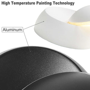 360 DEGREE ADJUSTABLE LED WALL LIGHT BLACK BODY - WARM WHITE LIGHT - Coral Tree