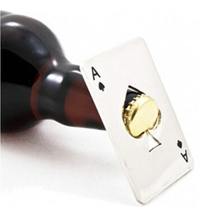 Coral Tree Ace Of Spades Bottle Opener
