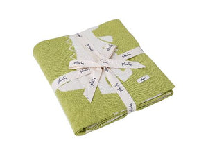 Stomping Lil Dinos - Med.Green & Ivory Cotton Knitted AC Blanket for Baby / Infant / New Born for use in all Seasons - Coral Tree