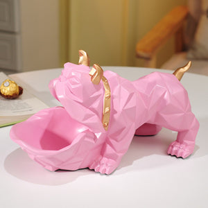 Bulldog Storage Box Dog Ornaments Dressing Room Decoration