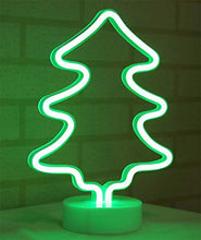 Load image into Gallery viewer, Coral Tree Christmas Tree Style LED Neon Green Table Lamp
