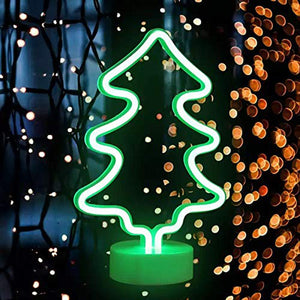 Coral Tree Christmas Tree Style LED Neon Green Table Lamp
