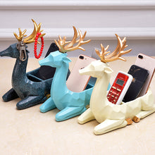 Load image into Gallery viewer, Creative Modern Resin Deer Figurine Animal Statue Ornaments Phone Remote Control Storage Organizer