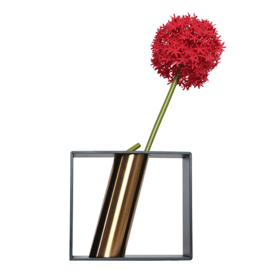 Coral Tree Flower Pot Square Metal Vase (Black) - Coral Tree