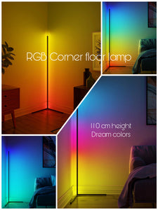 Corner Vertical Floor Lamps with Remote Control - Coral Tree