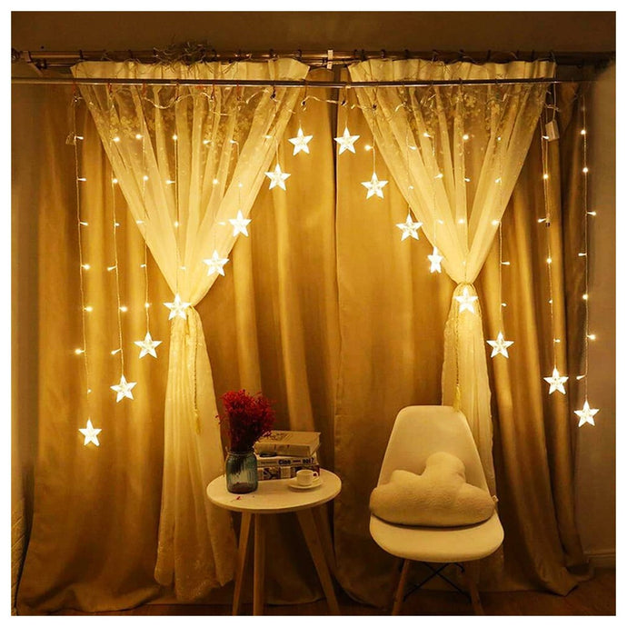 STAR INVERTED V CURTAIN LED LIGHT - Coral Tree