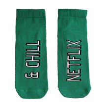 Load image into Gallery viewer, NETFLIX & CHILL GREEN SOCKS - Coral Tree