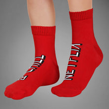 Load image into Gallery viewer, NETFLIX & CHILL RED SOCKS - Coral Tree