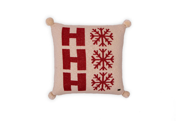 Santa Party Cotton Knitted Cushion Cover Colour (No Fill Inside) - Coral Tree