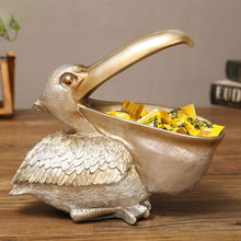 Load image into Gallery viewer, Pelican Bird Figurine Jewellery Key Storage Creative Resin Toucan Statue Home Decoration