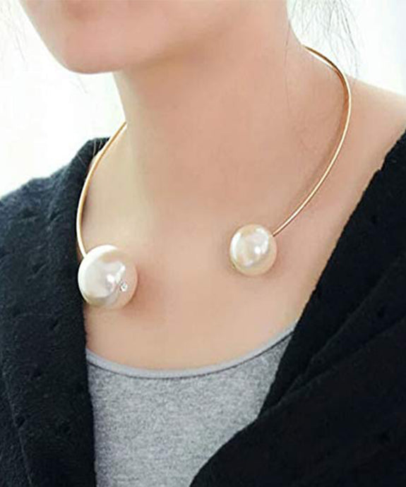 Round Back Band with Big Pearl at Both Ends for Women and Girl