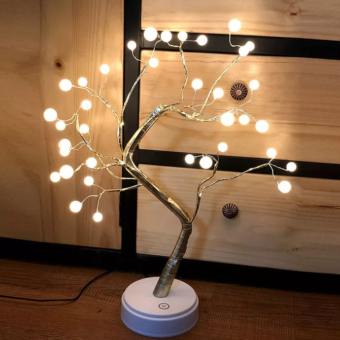 LED's Flower Cherry Blossom Tree Light Copper Wire DIY Bonsai Tree Table Desk LED Branch Light for Home Decor - Coral Tree