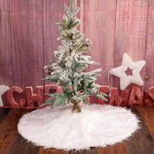 Load image into Gallery viewer, CHRISTMAS TREE SKIRT - FAUX FUR CHRISTMAS TREE MAT - Coral Tree