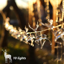 Load image into Gallery viewer, Reindeer LED String Lights for Christmas - Coral Tree