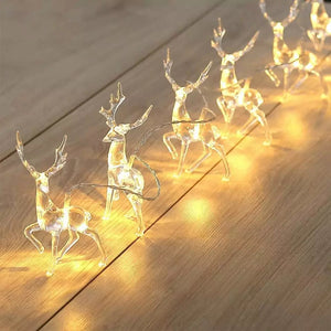 Reindeer LED String Lights for Christmas - Coral Tree