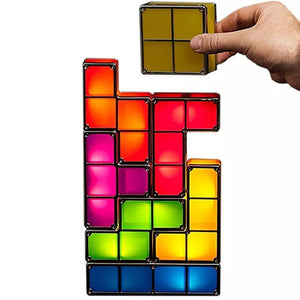 DIY Tetris Puzzle Light Stackable LED LAMP - Coral Tree