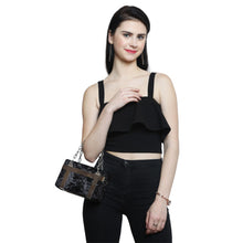 Load image into Gallery viewer, Coral Tree Women's Acrylic Clutch Box Crossbody Sling Bag (Black)