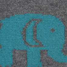 Load image into Gallery viewer, Baby Elephants - Heather Grey & Blue Color Cotton Knitted Caps for Baby / Infant for Use In All Seasons - Coral Tree