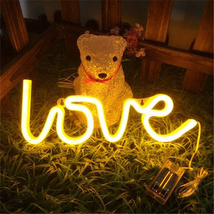 "NEON Love Light 13.70"" Large LED Love Art Decorative Marquee Sign - Coral Tree"