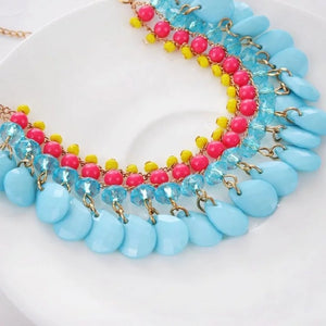 Blue Beads necklace for girls - Coral Tree