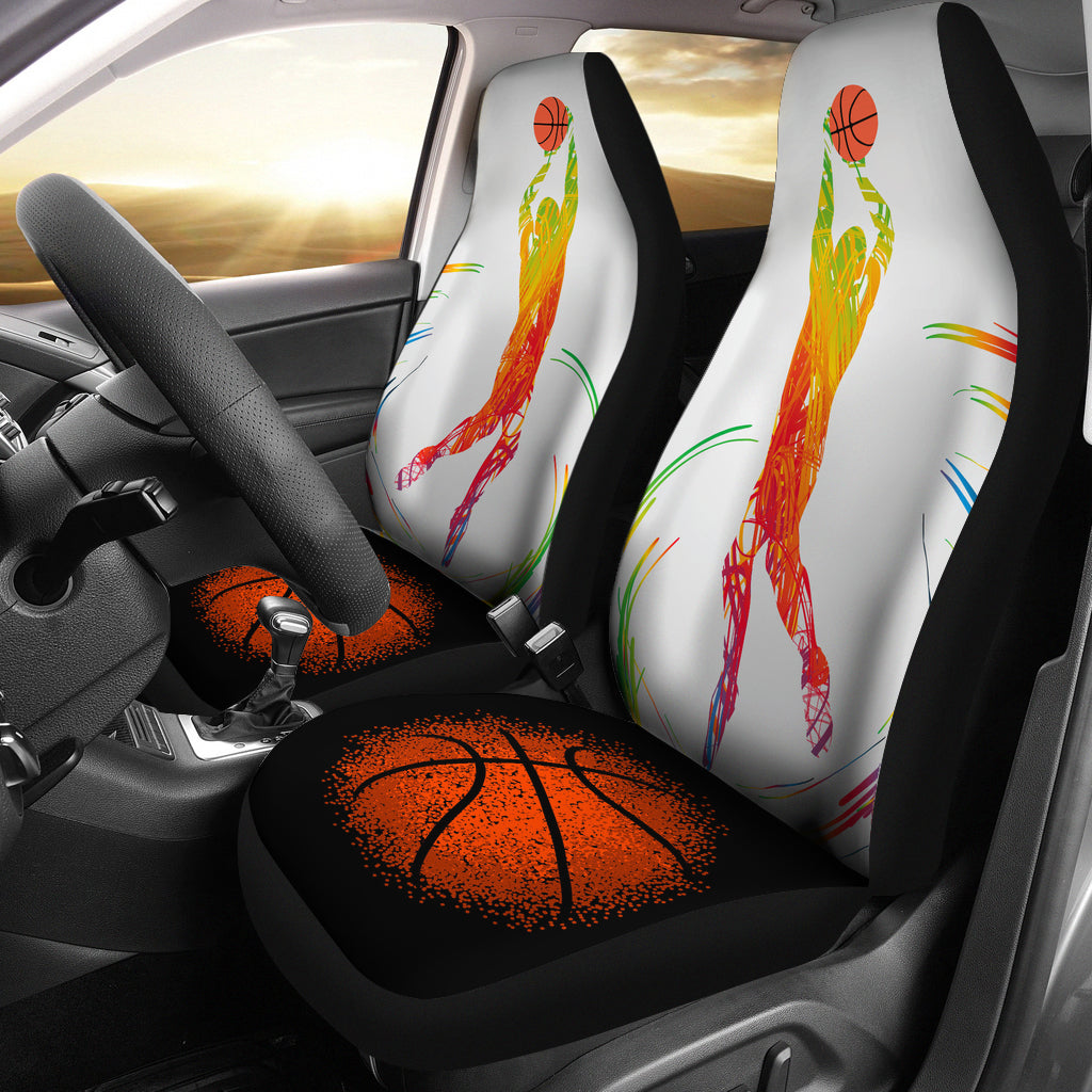 Colorful Basketball Car Seat Covers