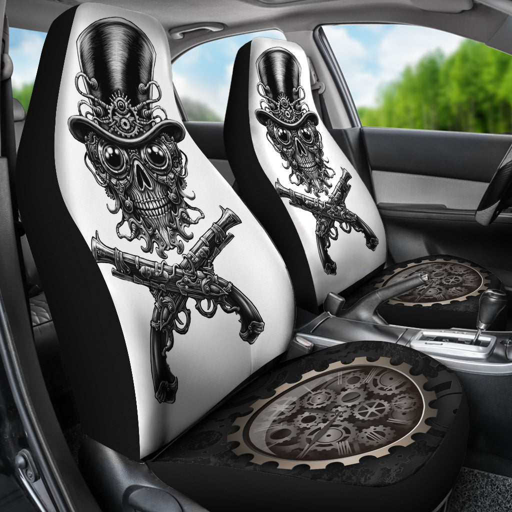 Steampunk Skull Car Seat Covers