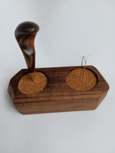 Walnut Awl & Needle Holder